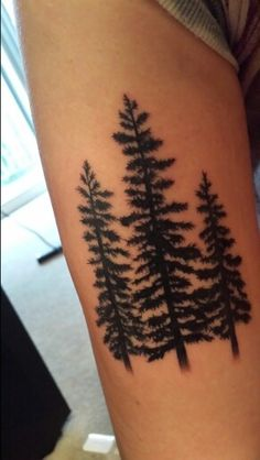 Pine tree tattoo