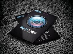 Photographer Lens Business Card by Odin_Design on Creative Market