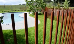 Red Hill Wrought Iron takes extreme care to personally deliver the pool fence to your home and install the bespoke furniture in your garden. Pool Paving, Pool Fence, Pool Landscaping, Timber Fencing, Pond Water Features, Modern Pools, Swimming Pools Backyard, Beautiful Pools, Fence Design