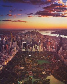 Central Park from above by BoBo by newyorkcityfeelings.com - The Best Photos and Videos of New York City including the Statue of Liberty Brooklyn Bridge Central Park Empire State Building Chrysler Building and other popular New York places and attractions.