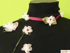 Cómo crear tus joyas con cinta organdí y cola de ratón http://bit.ly/1WMIYSf #diy #manualidades #handmade #joyas