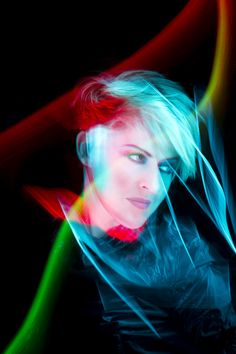 Geneviève Borne, TV host | Light Painting by Patrick Rochon