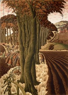 The Exodus by Simon Palmer English), watercolour Landscape Art, Landscape Paintings, Landscapes, Lino Art, History Images, Perspective Drawing, Irish Art, Art File, Stone Houses