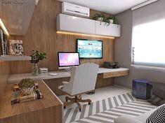 """868 curtidas, 18 comentários - Paola Cury Arquitetura e Eng. (@pacuryarqeng) no Instagram: """"Home office que adorei! #3D #projeto #homeoffice #office #escritório #stylish…"""""""