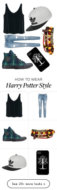 """Untitled #324"" by unicorn-narwhal on Polyvore featuring MANGO, Current/Elliott, Converse and adidas"