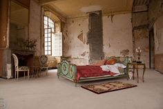 Forgotten and crumbling, Château de Gudanes was a shadow of it's former opulent, aristocratic-self. Until an Aussie family decided to bring it back to life Chateau De Gudanes, Chateau Medieval, Old Wallpaper, French Country Bedrooms, Boho Bedding, Interior Decorating, Interior Design, Bohemian Interior, Rustic Elegance