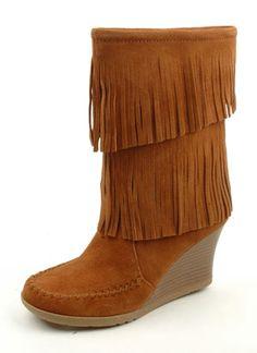 Minnetonka Moccasins Wedge Boot