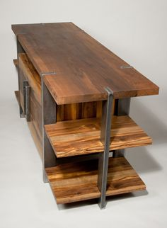 reclaimed wood entertainment center - Google Search
