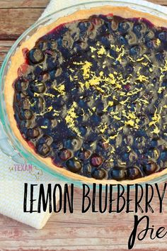 Dairy-Free Lemon Blueberry Pie Recipe that is the perfect summer treat!
