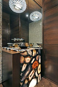 Powder Room - contemporary - powder room - calgary - Bruce Johnson & Associates Interior Design