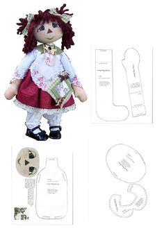 . Doll Clothes Patterns, Doll Patterns, Ann Doll, Sewing Dolls, Stuffed Toys Patterns, Soft Dolls, Doll Crafts, Fabric Dolls, Beautiful Dolls