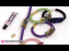 How to Make the Deluxe Beaded Kumihimo Bracelet Kit with Pip Bead Focal - YouTube