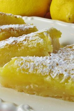 Lemon cream cheese bars are a variation of the traditional lemon bars, made with crescent roll dough and a lemony cream cheese filling. Lemon Cream Cheese Bars, Low Fat Cream Cheese, Lemon Bars, Lemon Cheese, Lemon Dessert Recipes, Lemon Recipes, Pastry Recipes, Sweet Recipes, Baking Recipes