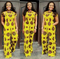 50 Beautiful Jumpsuit Ankara Styles For The Weekend - iFashy