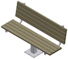 Single Post Benches: Single Post Park Benches are a cost-effective option for sturdy, permanent seating in any environment. - Iowa Prison Industries
