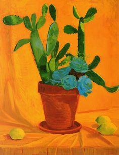 paintings and drawings of cactus david hockney David Hockney Artwork, David Hockney Artist, Peter Blake, Pop Art Movement, Painting Still Life, Art Moderne, Art Abstrait, Mondrian, Kandinsky