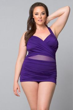 Sand and Glam Swimsuit - Angelique Plus size swimwear