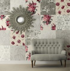 CREATIVE WAYS TO USE WALLPAPER - Laura Ashley blog  grey and cranberry mix and match!