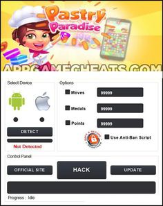 Pastry Paradise Hack for Medals & Moves – Android & iOS Pastry Paradise is another addicting matching game, similar to Candy Crush. It's inevitable that at some point during the game, you'… App Hack, Game App, Matching Games, Cheating, Helpful Hints, Paradise, Hacks, Activities, Hack Tool