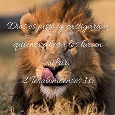 «Dios, que es justo, pagará con sufrimiento a quienes los hacen sufrir a ustedes.» 2 Tesalonicenses 1:6 
