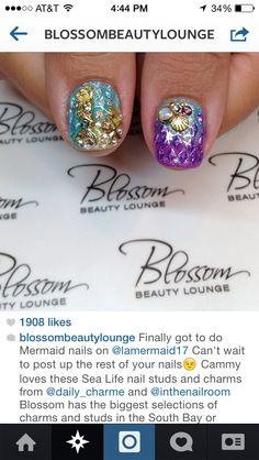 Mermaid nails!!!! blossombeautylounge.com | IG: @blossombeautylounge