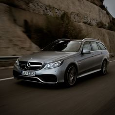 Mercedes-Benz E 63 AMG S 4MATIC Wagon. Fuel consumption combined: 10,5 l/100km, CO2 emissions combined: 246 g/km. #MBCars