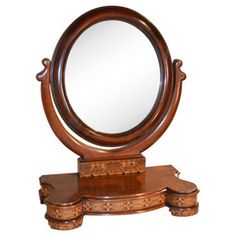Check out this item at One Kings Lane! 19th-C. Tunbridge Dresser Mirror