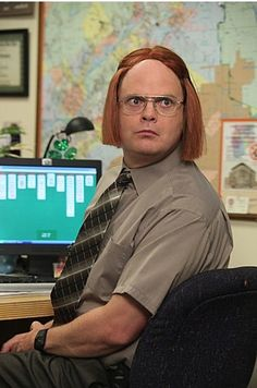 Photo of Dwight as Meredith for fans of The Office 18635901 Best Of The Office, The Office Show, Office Tv, Meredith The Office, The Office Stickers, The Office Dwight, Office Jokes, Office Wallpaper, Funny Iphone Wallpaper