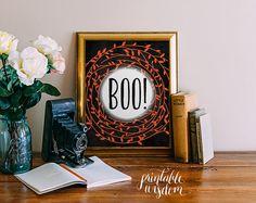 Halloween Printable art print wall art digital by PrintableWisdom
