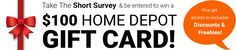 Home Depot Gift Card Giveaway | Closet of Free Samples | Get FREE Samples by Mail | Free Stuff