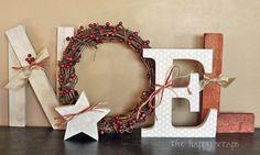 Decoracion navideña con letras