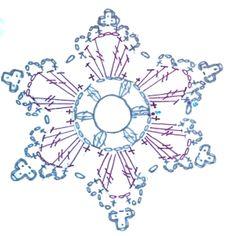 Transcendent Crochet a Solid Granny Square Ideas. Inconceivable Crochet a Solid Granny Square Ideas. Crochet Snowflake Pattern, Crochet Motifs, Christmas Crochet Patterns, Crochet Snowflakes, Crochet Diagram, Thread Crochet, Crochet Doilies, Crochet Flowers, Crochet Hooks