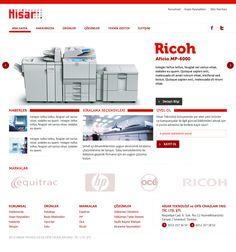 Interface designs for Hisar Tech web site