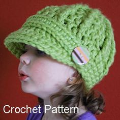Free Crochet Pattern 50768 Crochet Newsboy Cap : Lion Brand Yarn