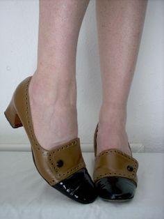 SALE // 1940s shoes // 40s spectator heels by ResurrectingVintage, $15.00
