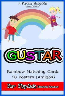 Classroom Freebies: Gustar Spanish Verb Posters and Game
