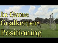In Game Goalkeeper Positioning: Goalkeeper Training Soccer Drills For Kids, Soccer Practice, Soccer Skills, Youth Soccer, Soccer Tips, Kids Soccer, Kids Sports, Soccer Stuff, Soccer Sports