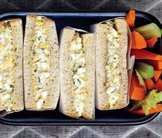 Leftover dyed eggs? Use 'em up in this classic sandwich