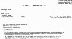 Ohio's tax identity confirmation quiz's goal to stop ID theft and refund fraud is good, but it's still a pain for some lawful filers.