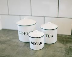 Jazz up countertops with the Canister Set ($38).