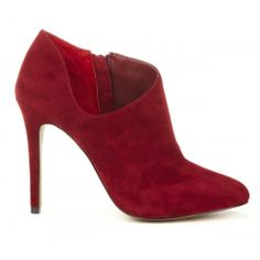 Helena low cut bootie - Chili Red