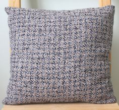 Handwoven Wool Cushion by WindItUpDesigns on Etsy