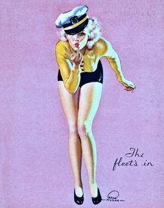 The Fleet's In by Earl Moran 1938