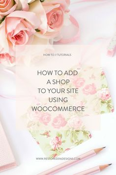 How do I sell products online without using a site like Etsy? This tutorial will show you exactly How to add a Shop to your site using WooCommerce - Restored 316 // Feminine Wordpress Themes using the Genesis Framework by Lauren Gaige