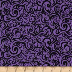 A Haunting We Will Go Swirl Purple from Designed by Dan Morris for RJR Fabrics, this cotton print fabric is perfect for quilting, apparel and home decor accents. Colors include black and purple. Halloween Quilts, Halloween Fabric, Dan Morris, Spooky Costumes, Rustic Kitchen Design, Purple Fabric, Halloween Backgrounds, New Dolls, Fabric Wallpaper