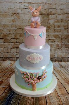 Bunny naming day cake