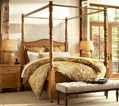 Captivating Cortona Canopy Bed Dresser Set #potterybarn