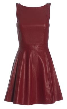 Armani red leather dress #McArthurGlenStyle