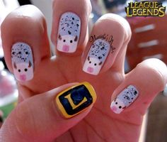 Poro League of Legends by Natiitha from Nail Art Gallery