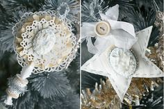 Handmade Ornaments on Webster's Pages blog